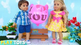 My American Girl Dolls Tenney and Logan Love Musical Story!