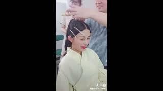 [ Tik Tok China] # 06-  Hướng dẫn làm tóc cổ trang Trung Quốc.