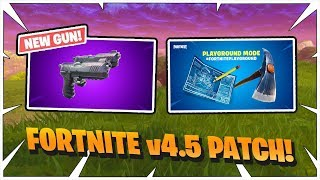 Streamers react to *New* | Double Pistol | Playground LTM | Gameplay | Fortnite patch v4.5 | EP.24