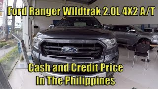 Ford Ranger WIldtrak 2.0L 4X2 A/T Price in the Philippines.