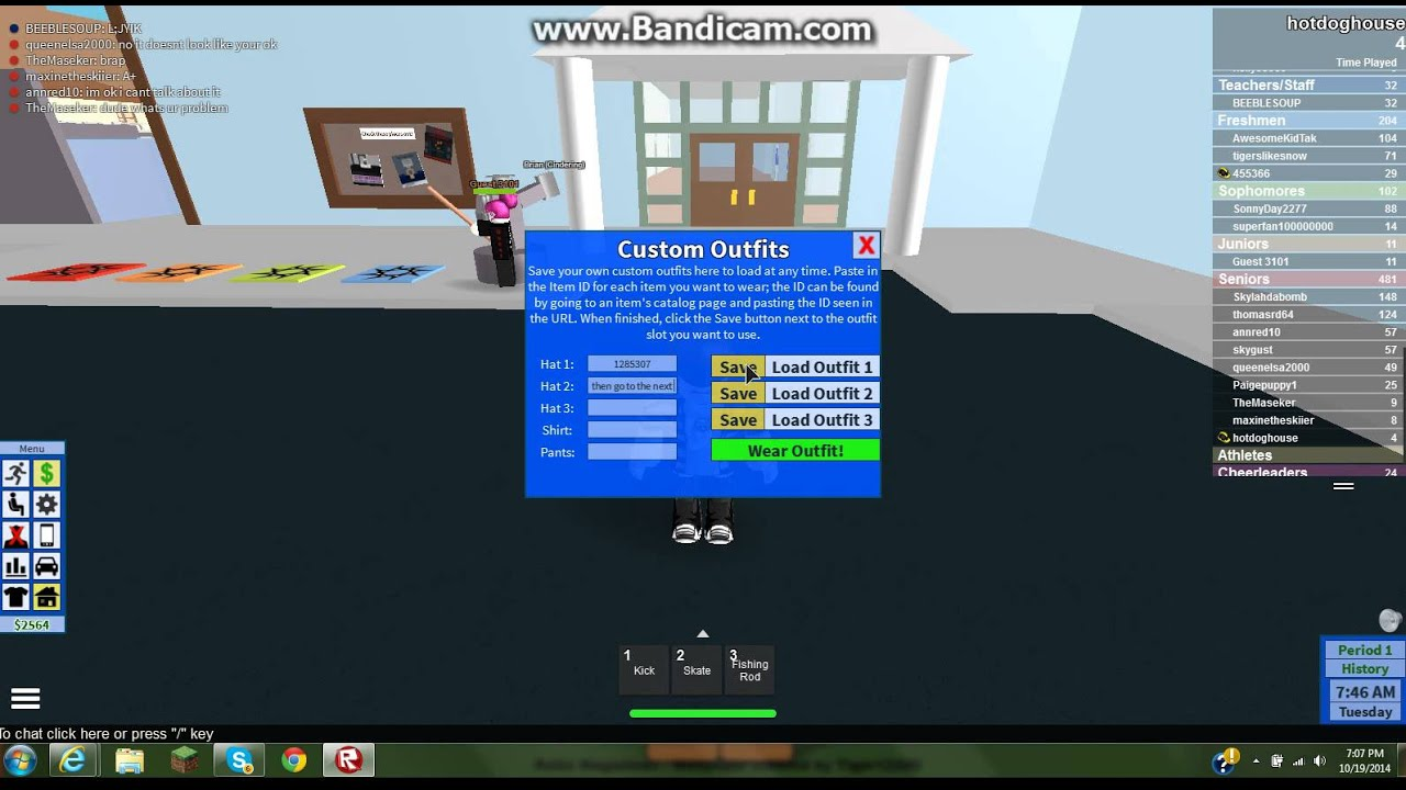 roblox codes for roblox high school clothes