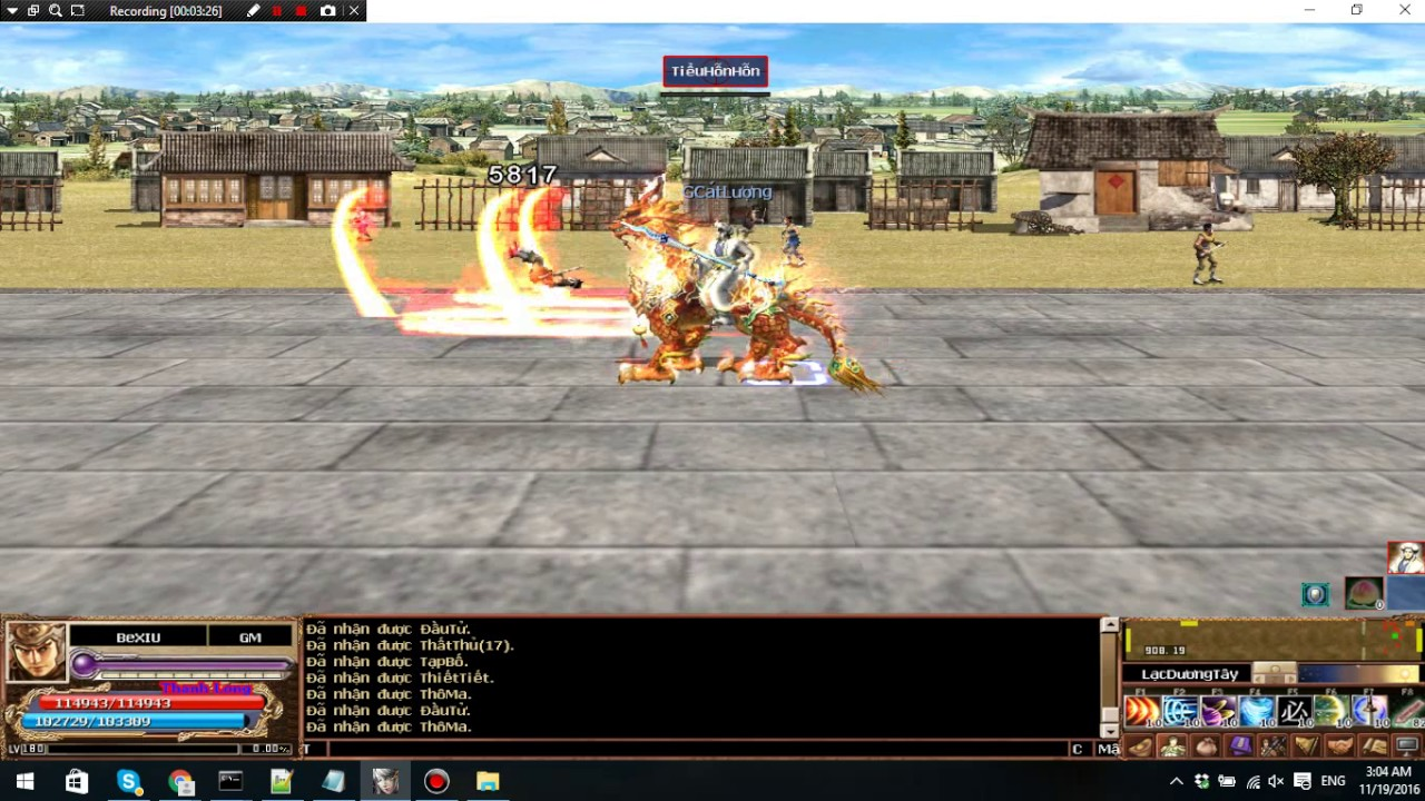 Test skill TQC server Thanh Long http://tamquocchi2d.com