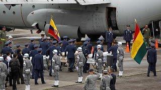 Колумбия  кадры с выжившим в авиакатастрофе