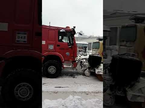 snow truck in harbin