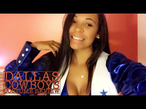 Review Try On Dallas Cowboys Cheerleader Costume Youtube