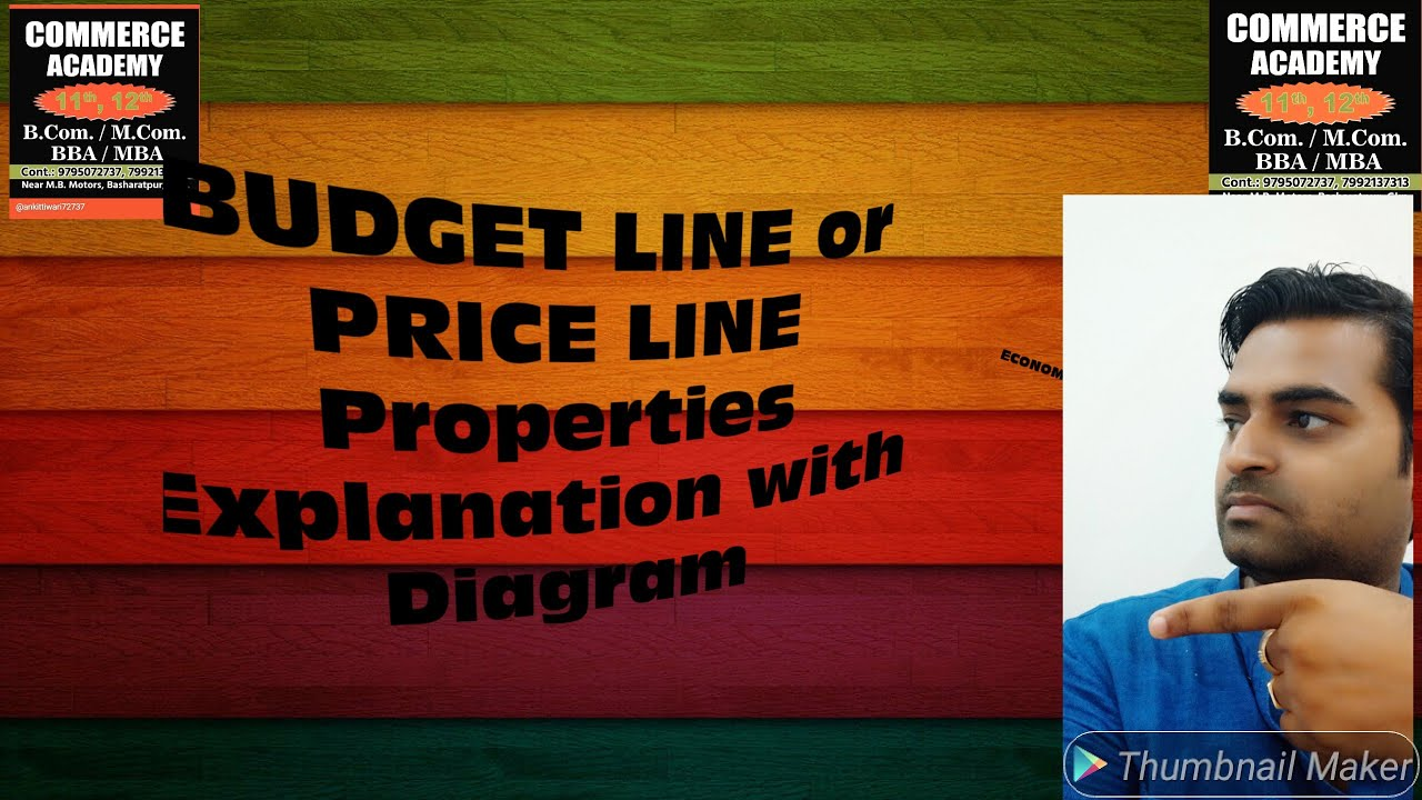 Budget Line Or Price Line  Properties  Explanation With Diagram