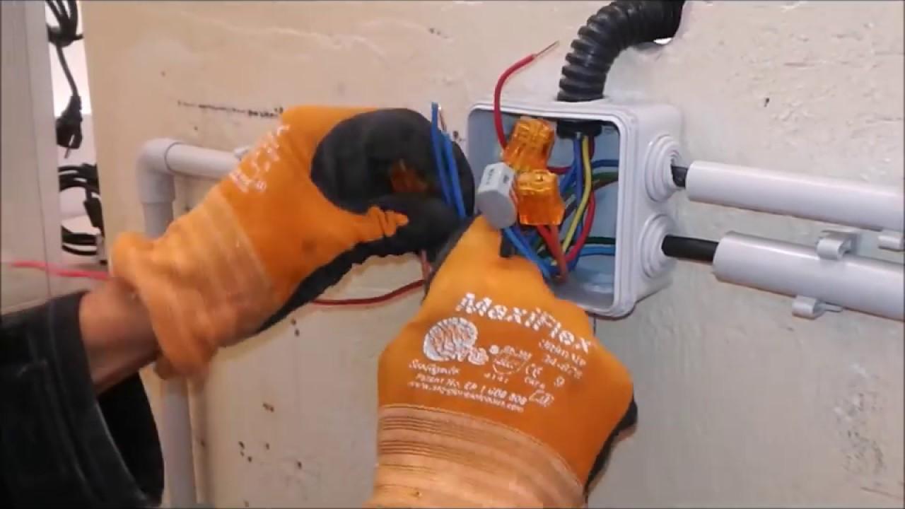 Gaine Electrique Exterieur Apparente cablage simple allumage en montage apparent avec interrupteur plexo