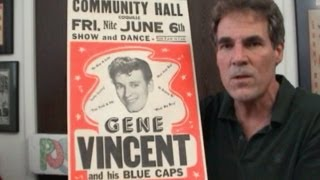 Gene Vincent Concert Window Card 1958 w/His Blue Caps