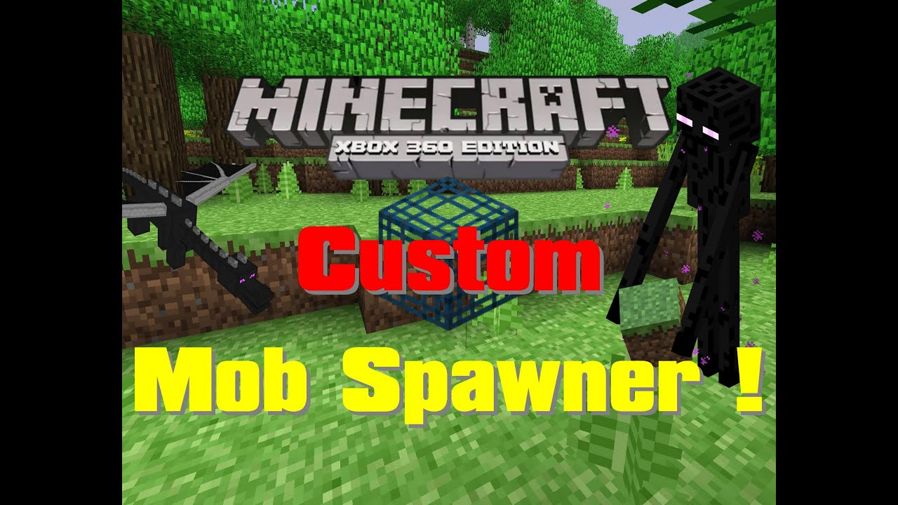 how to create a mob spawner in minecraft