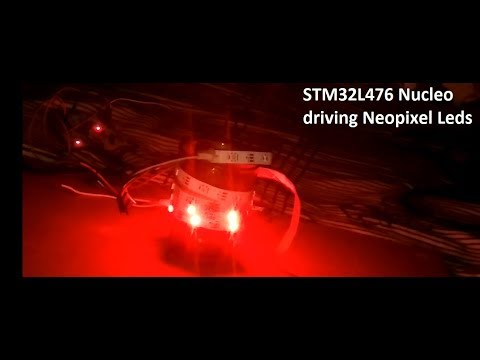 Neopixel with STM32L4 Nucleo board