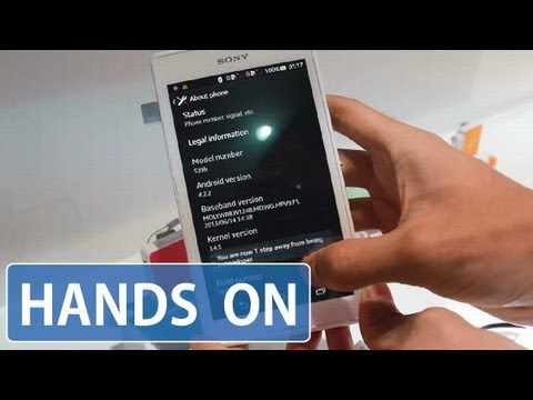 Sony Xperia C Hands on!! - YouTube
