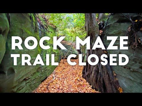 ROCK MAZE TRAIL CLOSED   Garrett County, Maryland