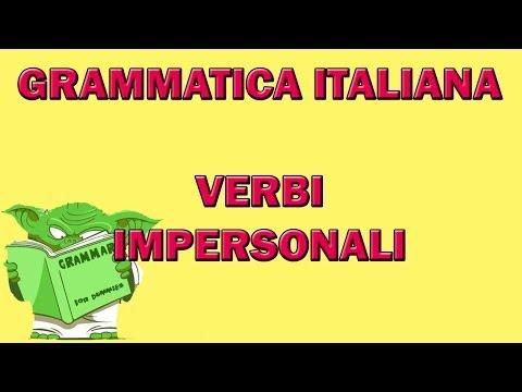Cosa sono i verbi impersonali