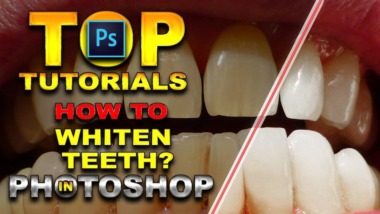 Como Branquear Os Dentes Em Photoshop Youtube