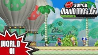 Newer Super Mario Bros. Wii - World 1 (1/2)