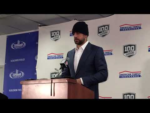 Packers - Aaron Rodgers speaks to media after Packers lose to Bears