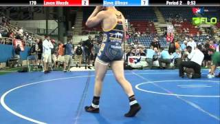 Junior 170 - Lavon Woods (Georgia) vs. Steve Ullman (Colorado)