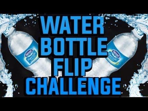 CRAZY WATER BOTTLE FLIP CHALLENGE!!