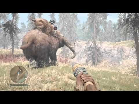 Far Cry Primal: Smilodon vs Young Woolly Mammoth