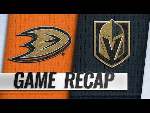 Eakin, Fleury lead Golden Knights to 5-0 win