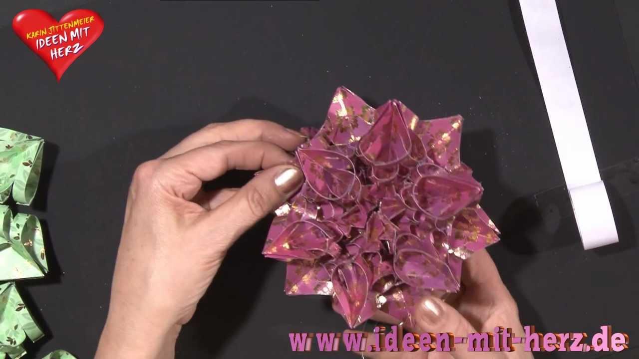 ideen mit herz origami stern kristallstern youtube. Black Bedroom Furniture Sets. Home Design Ideas