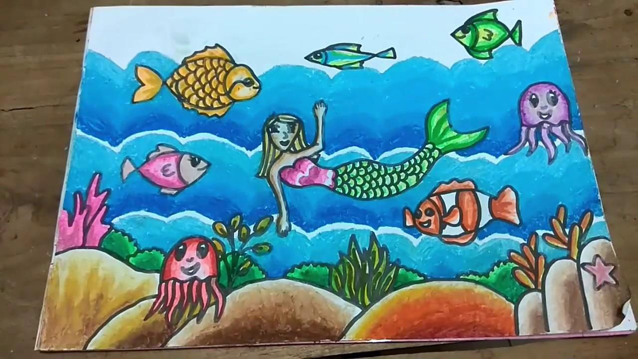Cara Menggambar Dan Gradasi Warna Tema Pemandangan Bawah Laut #1