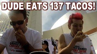 Kobayashi Eats 137 Tacos in 10 Minutes! *2016 Chronic Tacos Challenge* | FreakEating