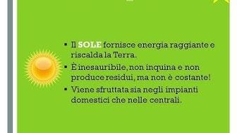 Energia solare - Classi 3^