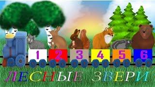 Изучение животных, цвета, цифр. Развивающие мультики Лесные животные