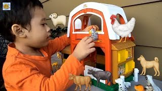 🤹◾️Learning animals videos, Animal Farm House Toys, kids animals learning,