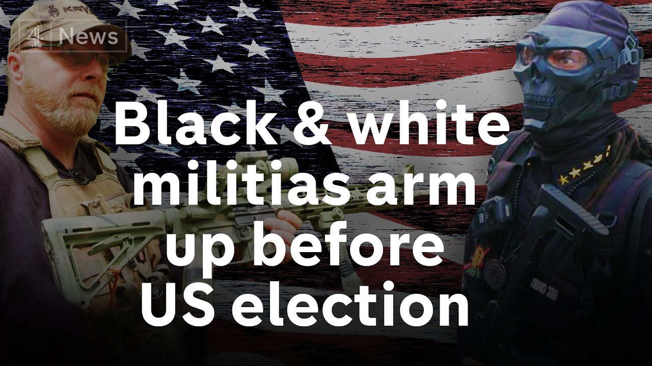 The white pro-Trump and black power militias arming up before the US election