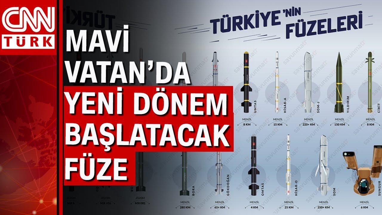 İşte Türkiye'nin milli füzeleri! CNN Türk tek tek füzeleri anlattı