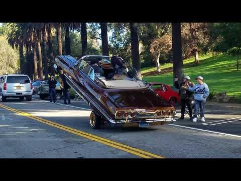 Lowriders Crusing at Elysian Park In LA!!