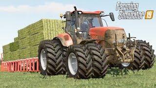 RECOLHENDO FARDOS DE GRAMA | Farming Simulator 19 | Lone Oak Farm - Episódio 51