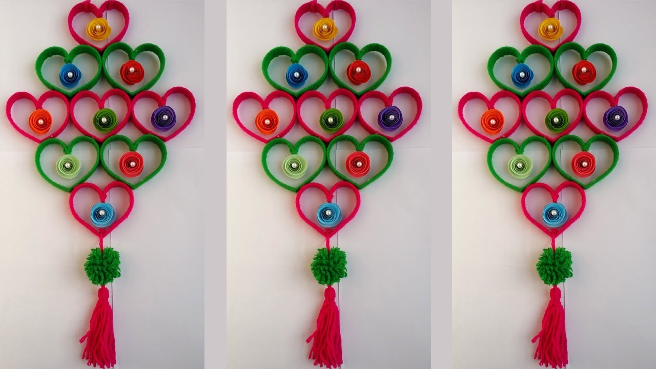 Diy plastic bottle wall hanging how to make beautiful wall hanging with plastic bottle woolen