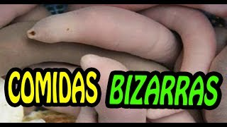 🔴 As comidas mais BIZARRAS do mundo! Tente ver até o final!