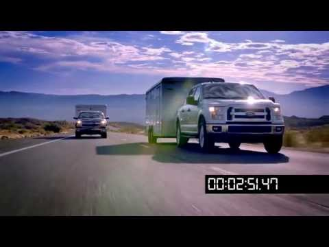 2015 Ford F-150 EcoBoost 2.7 head to head towing, Davis Dam