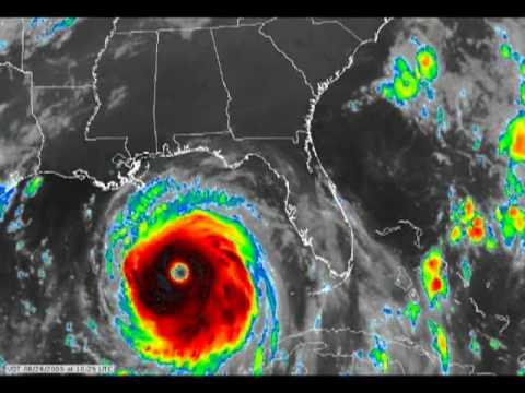Hurricane Katrina Ir Animation Youtube