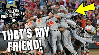 MY FRIEND WON THE 2018 COLLEGE BASEBALL WORLD SERIES! *SO PROUD*