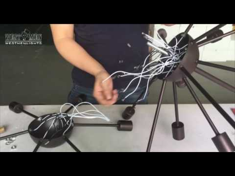 [DIAGRAM_38IS]  Sputnik Chandelier lnstall Instruction by Westmen Lights - YouTube | Chandelier Series Wiring Diagram |  | YouTube