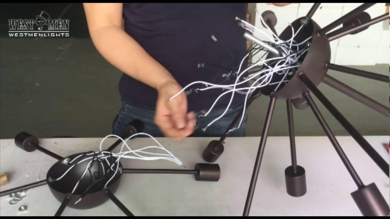 sputnik chandelier lnstall instruction by westmen lights [ 1280 x 720 Pixel ]
