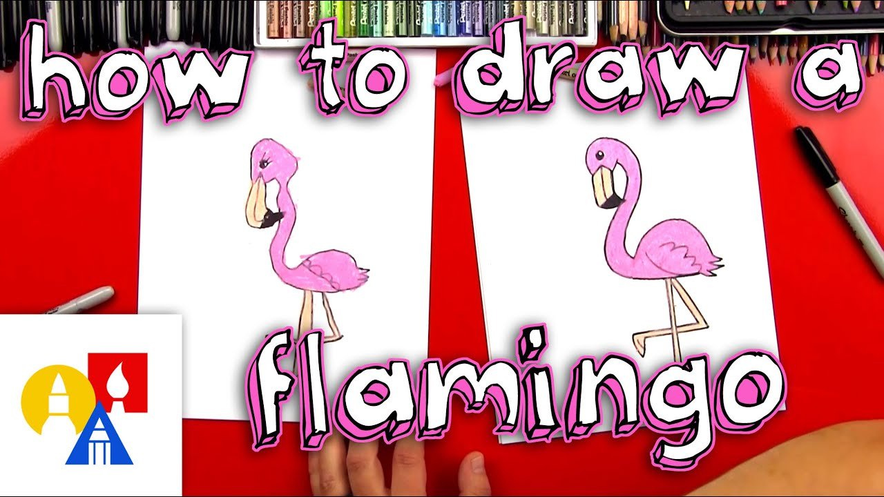 How To Draw A Cartoon Flamingo Youtube