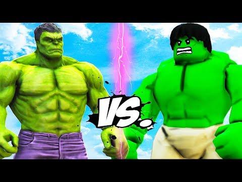 THE HULK VS LEGO HULK - EPIC BATTLE