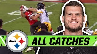 Pittsburgh steelers te vance mcdonald hauled in a career-high with 50 catches and 610 receiving yards, punished defenses his vicious stiff-arm all s...