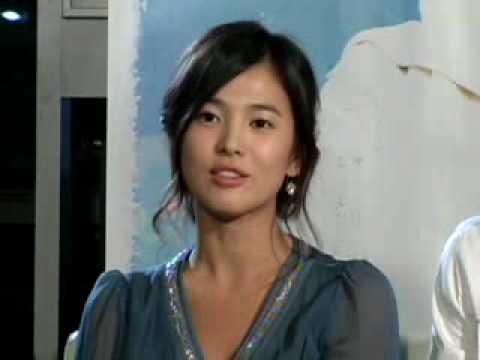 [movie] Song Hye-Gyo, Cha Tae-Hyun interview ('파랑주의보' 송혜교 차태현 인터뷰)