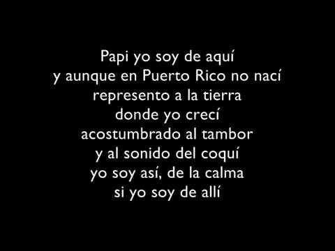 Yo Soy De Aqui (Letra) - Don Omar Ft...