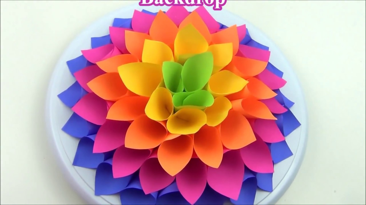 Diy Giant Paper Flower Backdrop Youtube