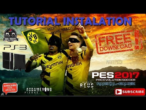 PES 2017 PS3  Potato Patch V.6 - V.9 New Season 17-18 Full Tutorial Install & Link