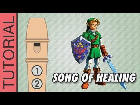 Zelda - Song Of Healing - Recorder Notes Tutorial