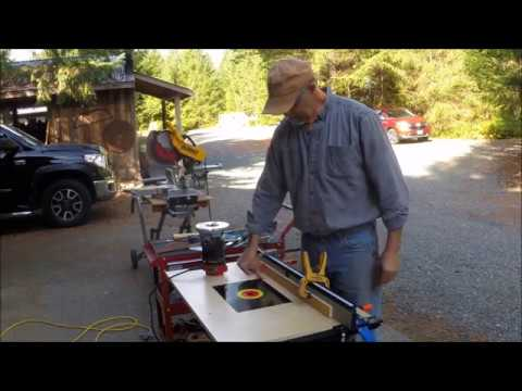 Attach DIY Router Table to Workmate